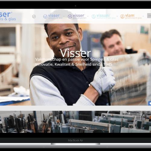 Website van Visser Glas